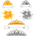 Set of 3D Stars with Ribbons vector image