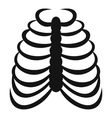 Rib cage icon simple style vector image