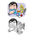 cartoon allergy template vector image