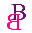 Capital B logo vector image