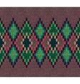 Seamless color knitted ornament pattern vector image