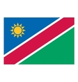 Namibia flag vector image vector image