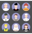 Professions avatar flat icons set vector image