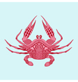 Zentangle stylized red King Krab Hand Drawn vector image