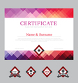 Certificate template layout background frame vector image