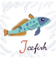 I is for Icefish vector image