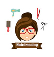 hairdressing service design vector image