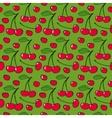 Cherries - seamless pattern vector image