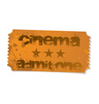 cinema admit one ticket vector image