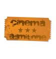 cinema admit one ticket vector image