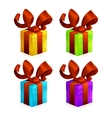 Icons Christmas Gift vector image
