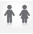 Man and woman toilet sign Grey water vector image