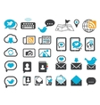 Modern communication icons vector image