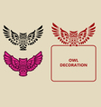 Owl decoration vector image