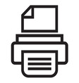 Print icon2 resize vector image