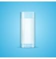Realistic Milk Glass vector image