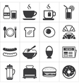 set of breakfast icon vector image