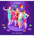 Team Party 07 People Isometric vector image