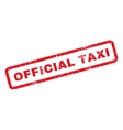 Official Taxi Rubber Stamp vector image