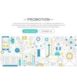 Modern line flat design Promotion concept vector image