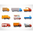 Realistic Truck Icons vector image