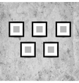 Retro picture frames on grunge wall for your vector image vector image