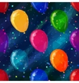 Balloon Low Poly Pattern vector image