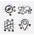navigation infographic vector image