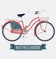 Retro Ride Poster with a Bicycle vector image
