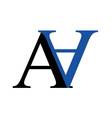 Capital A and N logo vector image