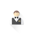 Color male service staff icon vector image