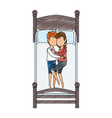 couple sleeping on the bed vector image