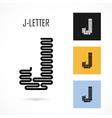 Creative J - letter icon abstract logo design vector image