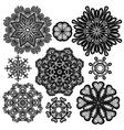 set circle lace 2 380 vector image