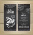 chalk drawing coffee menu design vector image