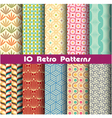 retro pattern unit collection 2 vector image