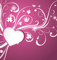 Beautiful pink heart background vector image