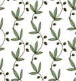 Seamless Pattern Olive vector image