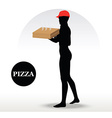 Pizza Delivery Person vector image