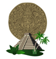 aztec temple vector image