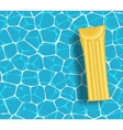 Yellow mattress in the swimming pool sunny day vector image