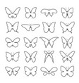 group shape of a butterfly on white background vector image