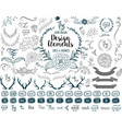 Hand drawn elements vector image