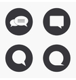 modern bubble speech icons set vector image