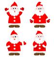 Set with happy Santas vector image