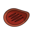 steak meat isolated icon vector image