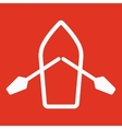 The boat and oars icon Skiff And Paddle symbol vector image