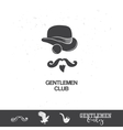 Vintage gentlemen club icons vector image