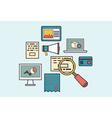 Concept of business development symbols equipment vector image vector image