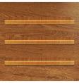 Wooden Bookshelf vector image vector image